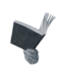 La lettura spilla, ardesia e pastelli