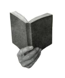 La lettura, spilla ardesia e pastelli