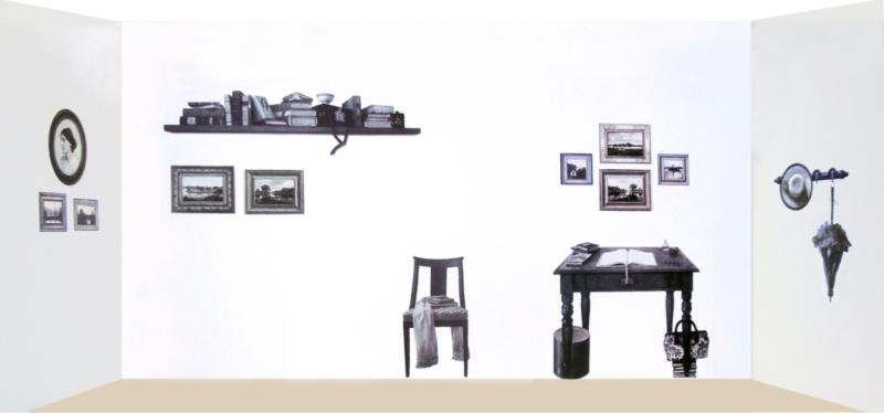"""Installazione di """"Una stanza tutta per sè"""""""