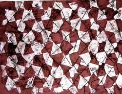 Batik graffiato su cotone